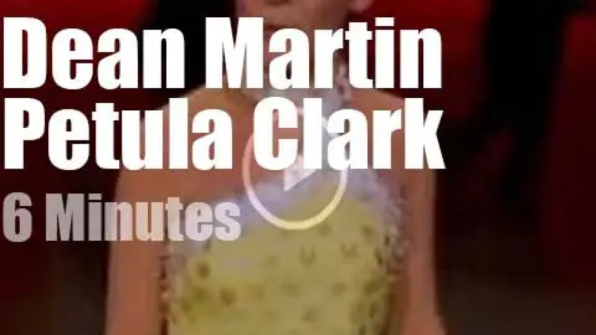 On TV today, Petula Clark with Dean Martin (1967)
