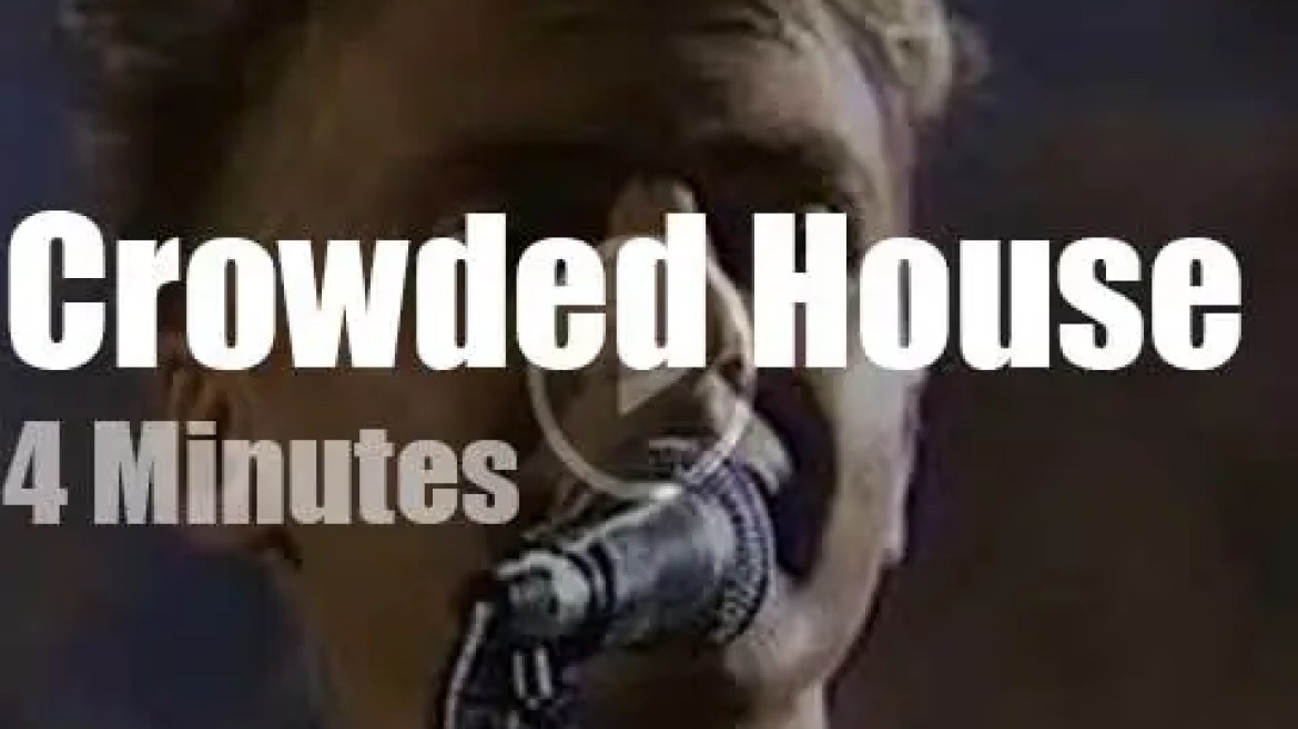 On Australian TV today, Crowded House at 'Countdown Australia' (1987)