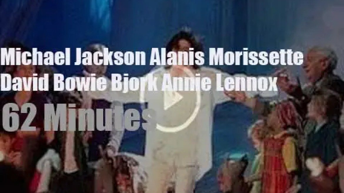On English TV today, Michael, Alanis et al at 'Brit Awards' (1996)