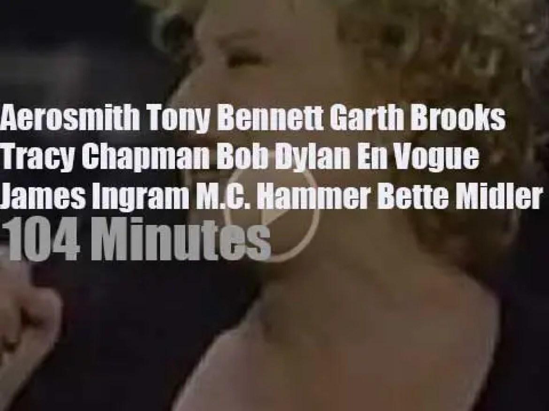 Tony, Garth, Tracy et al attend the '33rd Annual Grammy Awards' (1991)