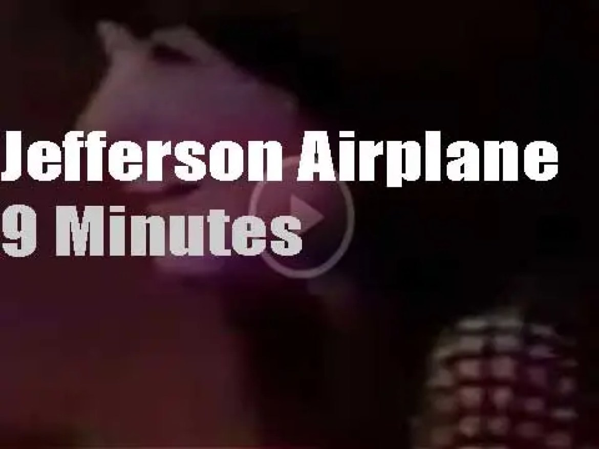 On TV today, Jefferson Airplane with Dick Cavett (1970)
