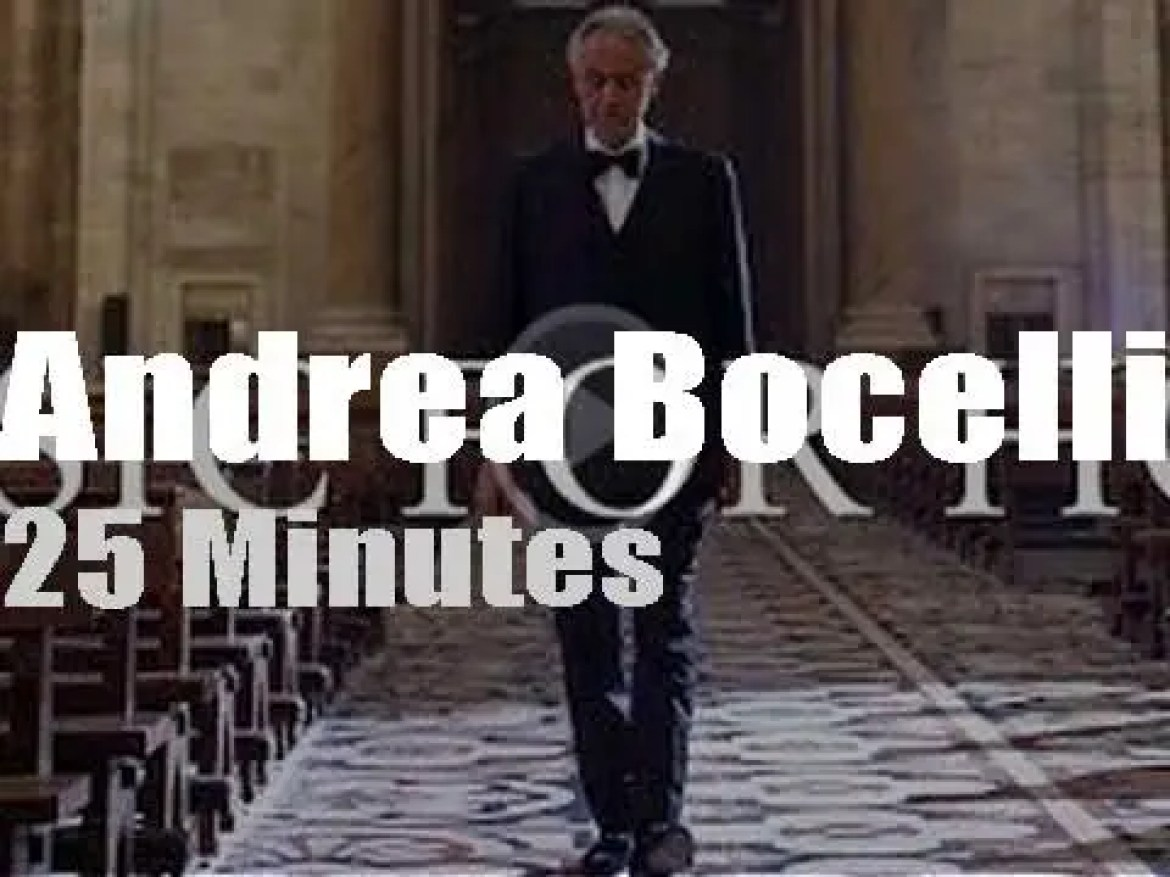 Andrea Bocelli celebrates Easter at the Duomo di Milano (2020)