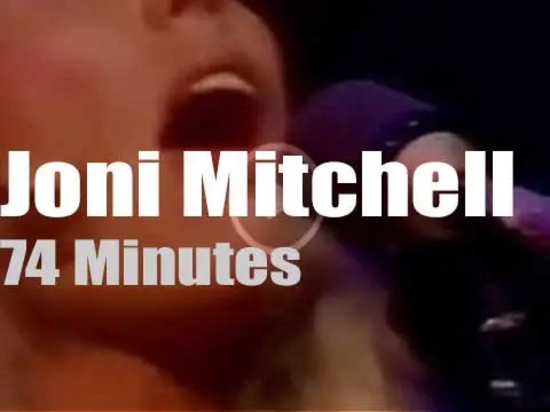 Joni Mitchell takes L.A. Express to London (1974)
