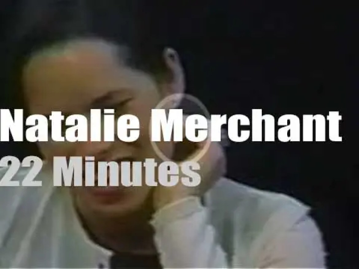 On TV today, Natalie Merchant with Charlie Rose (1998)
