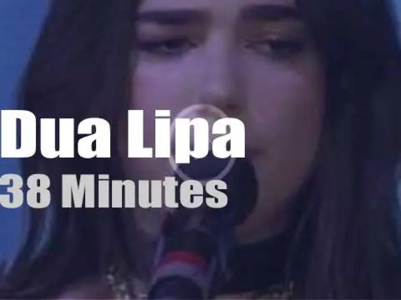 Young Dua Lipa attends 'Bonnaroo' (2017)