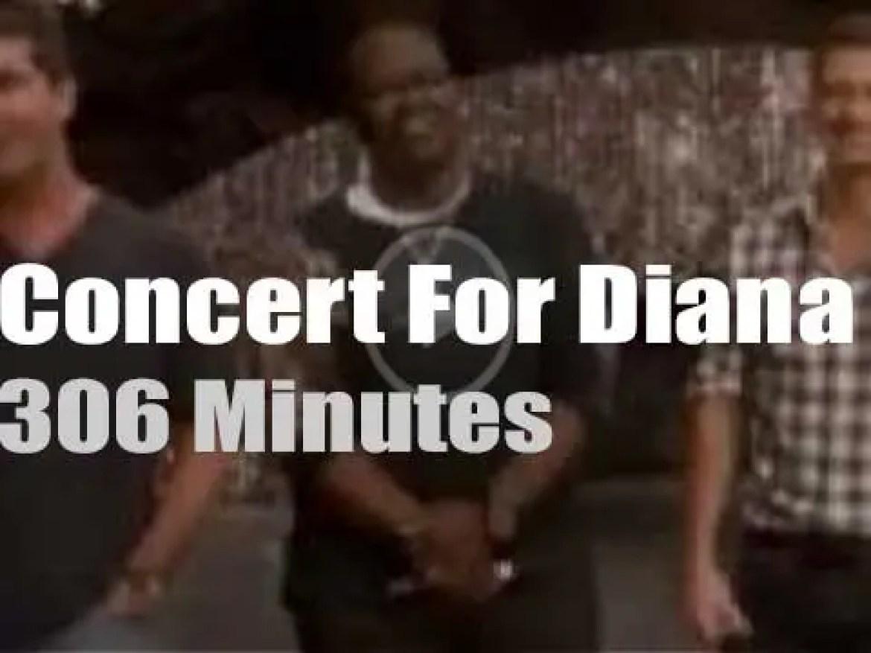 Elton, Duran, Ricky et al celebrate Princess Diana (2007)