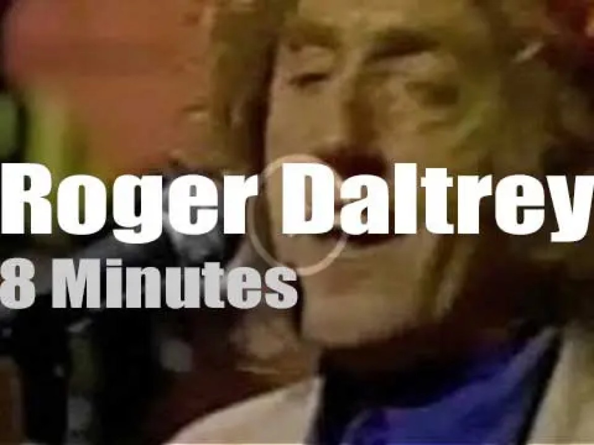 On TV today, Roger Daltrey with David Letterman (1992)