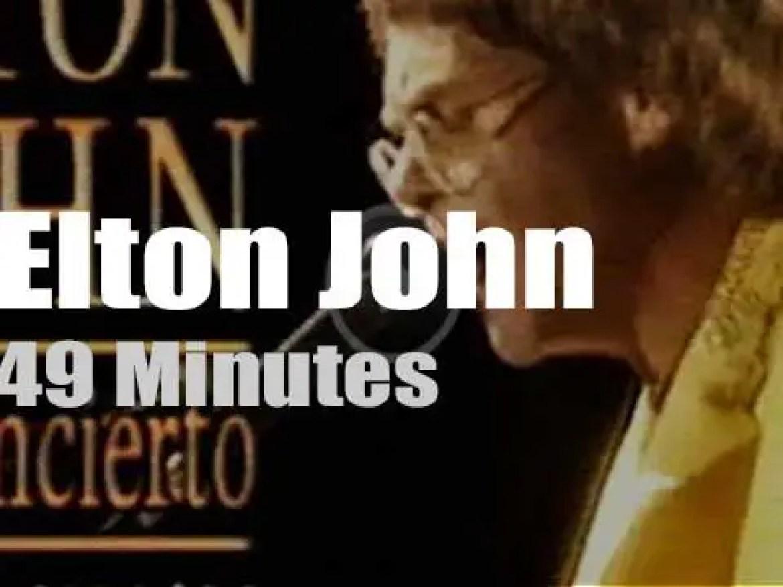 Elton John visits Barcelona (1992)