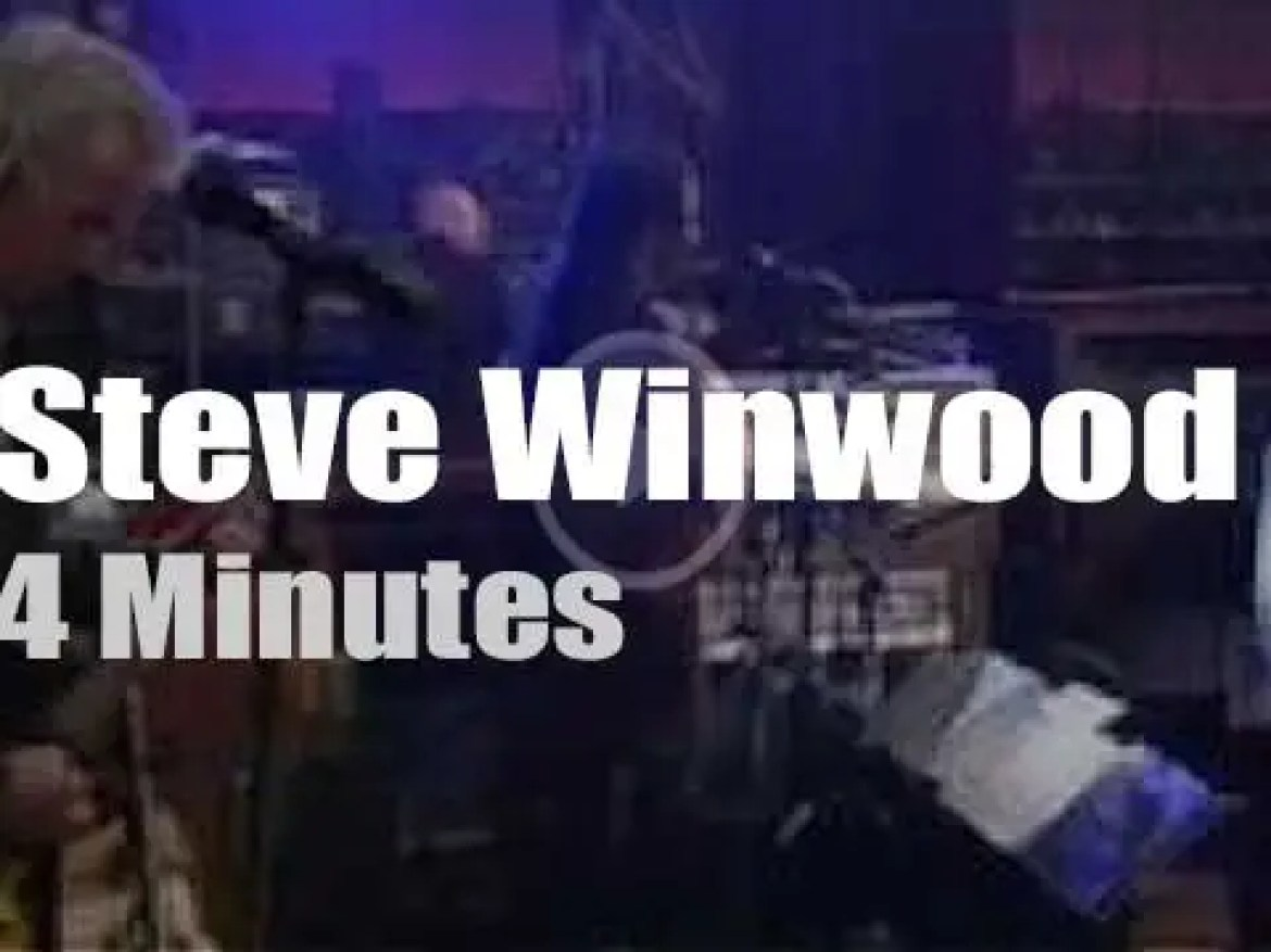 On TV today, Steve Winwood with David Letterman (2010)
