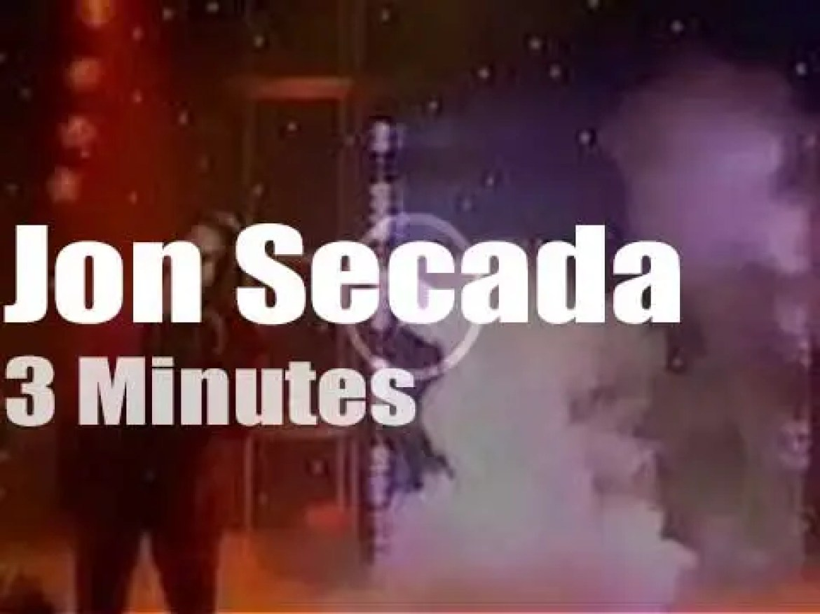 On British TV today, Jon Secada at 'Top Of The Pops' (1992)