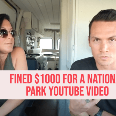 Is it illegal to shoot video for YouTube in National Parks?