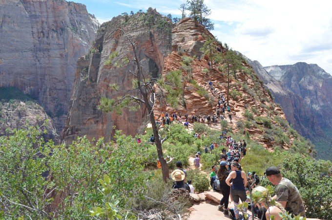 RV Industry and Camping News - Changes to the National Parks include timed entry at Angel's Landing.