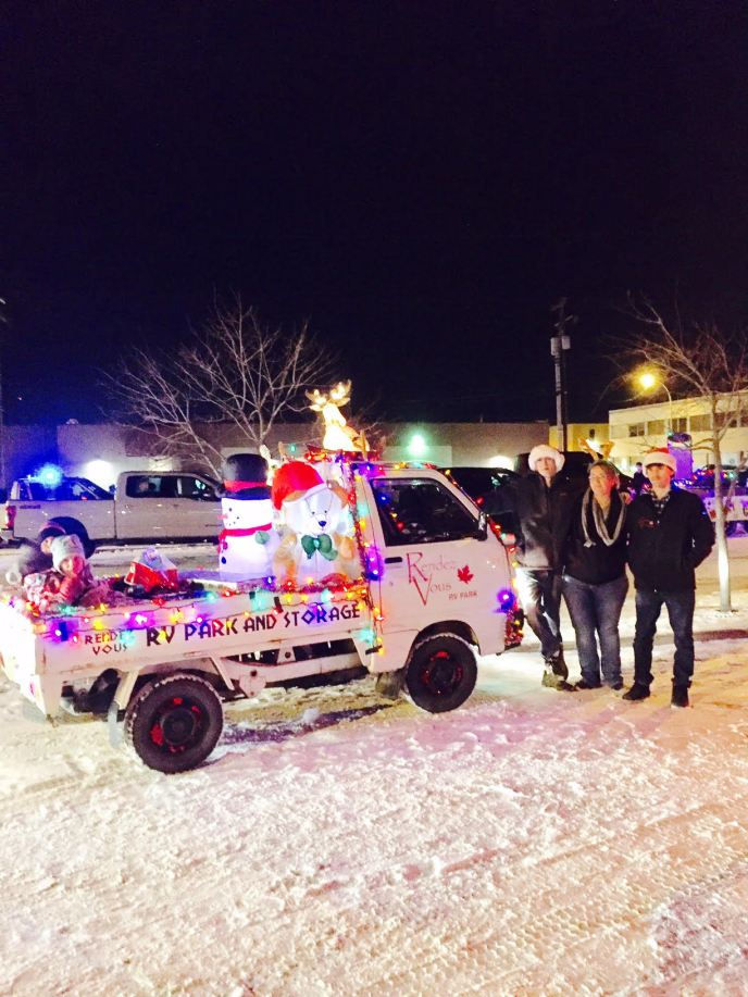 Local Christmas Parade Mini truck Rendez Vous RV park open year round