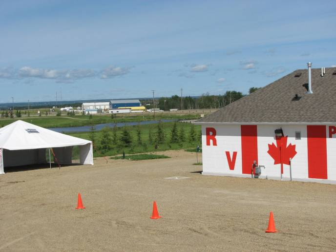 Restroom, Shower house and event tent Rendez-Vous RV Park & Storage