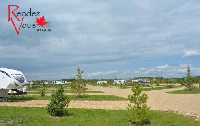 Rendez Vous RV Park Campground with Logo