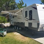 RV set up at RV resort in Paso Robles