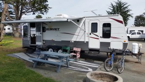 RV Rental set up at Pismo Coast Village