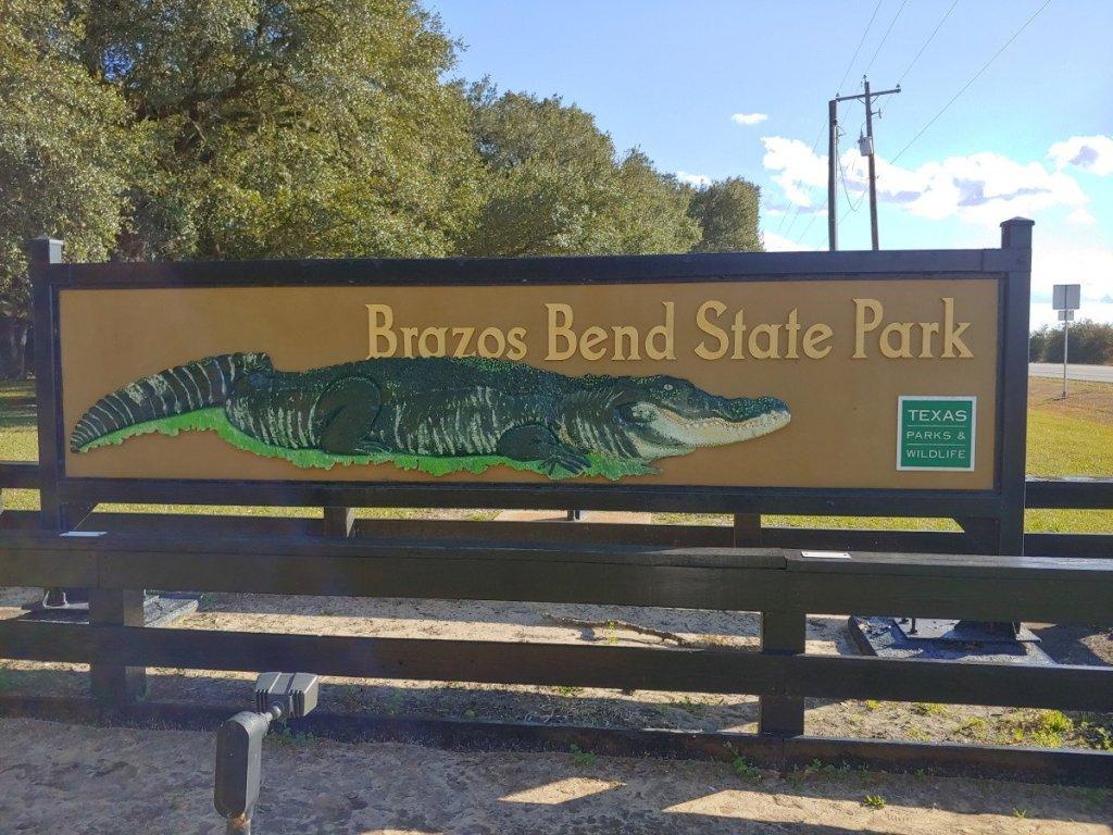 Entrance Sign Brazos State Park