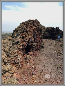 A Wall of Lava Rocks at the Black Crater, Lava Beds National Monument, California