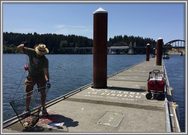 Catching Crabs, Florence, Oregon