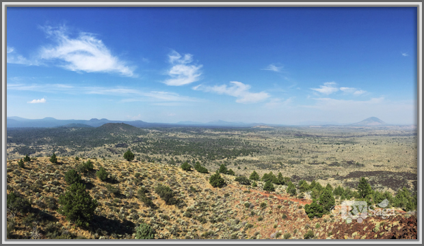 Panoramic View from the Schonchin Butte, Lava Beds National Monument