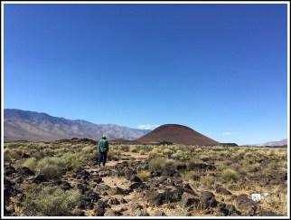 A Cinder Cone by Coso Range. Coso, California