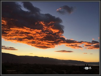 Clouds On Fire at Dawn. Lone Pine, California