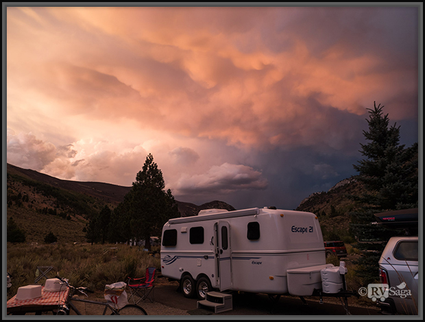 A Dramatic Sunset at Silver Lake Campground
