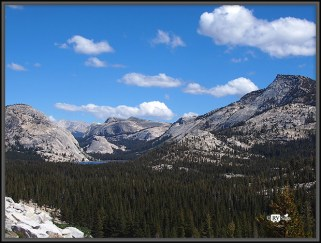 Granite Peaks Around Tenaya Lake