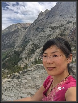 Weiwei In Front of Carson Peak
