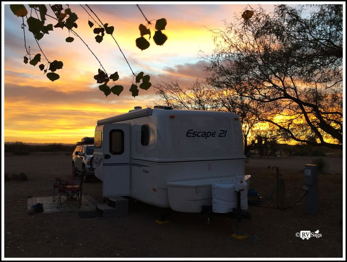 Dawn at Pancho Villa State Park Campground
