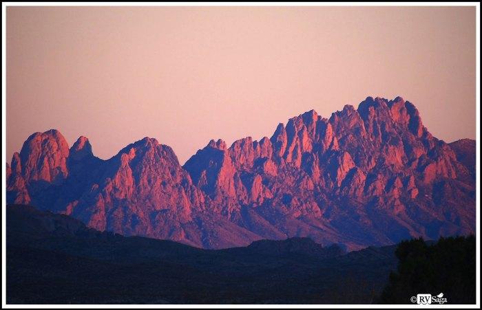 Organ Mountains in Sunset