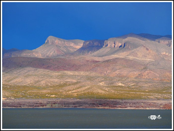 Fra Cristobal Mountains By Elephant Butte Lake