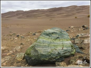 Rock and Great Sand Dunes