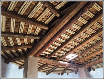 Cribbed Roof of Aztec Great Kiva. Aztec, New Mexico