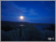 Moonlit Cochiti Lake. New Mexico