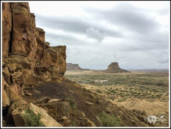 View of Fajada Butte from Cliffs by Una Vita