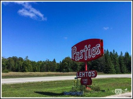 Sign of Lehto's Pasties