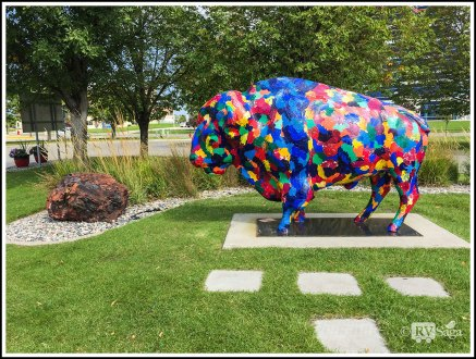 A Painted Bison at Fargo