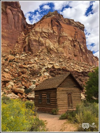 An Old Schoolhouse at Capital Reef National Park. Utah