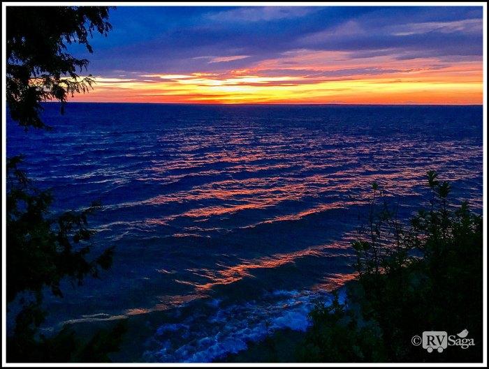 Brilliant-Sunset-Above-Lake-Michigan-at-Fayette