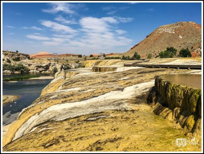 Hot Spring Terraces at Hot Spring State Park, Thermopolis