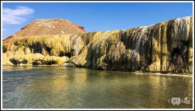 Hot Spring Terraces at Hot Spring State Park, Thermopolis, Wyoming