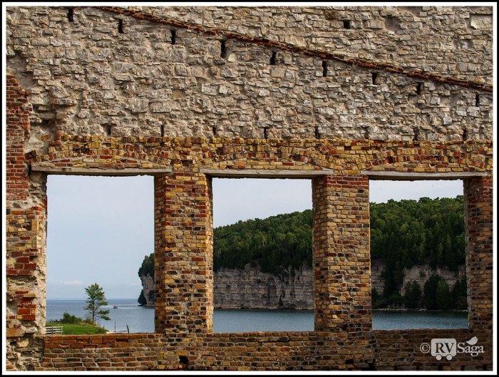 Windows-of-Conpany-Store-Framing-Dolomite-Cliff