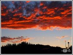 Fiery Sunset. Cochiti Lake Recreation Area. New Mexico