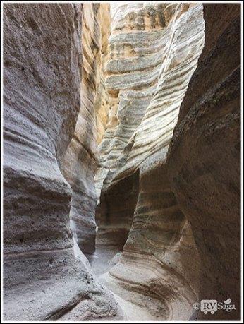 Shape of the Slot Canyon. Kasha-Katuwe Tent Rocks National Monument. New Mexico
