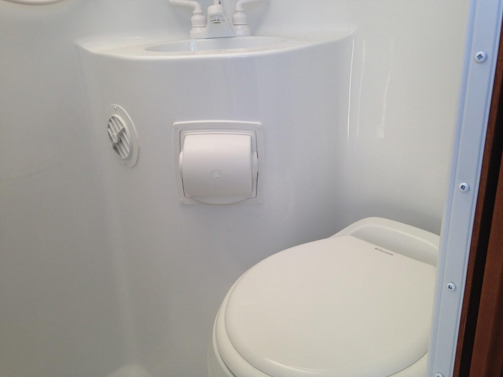 an rv shower toilet combo
