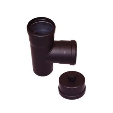EW 80 1,2 mm T-stuk 90 graden MxFxF met kondensdop