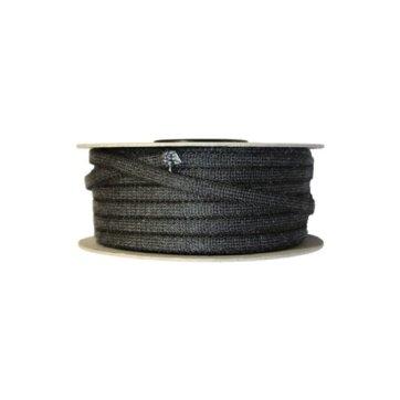 Glasvezelkoord rond 04 mm rol 100 meter zwart
