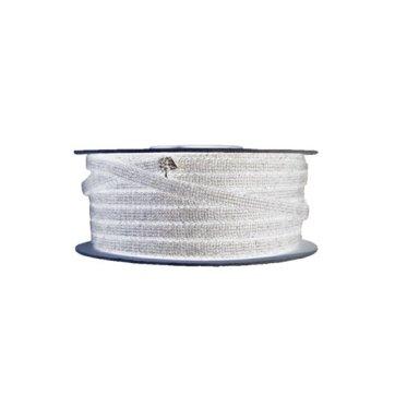 Glasvezelkoord rond 08 mm rol 100 meter wit